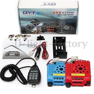 Red Blue QYT KT8900 136-174/400-480MHz Dual Band 25W Mobile Radio Transceiver N