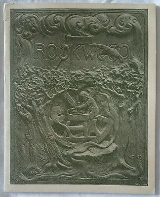 Superb Rare Authentic Very First Rookwood Pottery Booklet Book Pamphlet. 1890's!