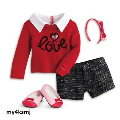 American Girl Grace's CITY OUTFIT Grace DOLL NOT INCLUDED Red SWEATER shipsTODAY