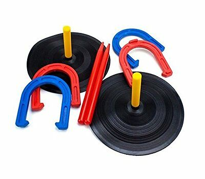 Crown Sporting Goods Deluxe Indoor & Outdoor Horseshoe Game Set quality material