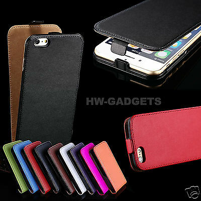 Genuine Real Leather Ultra Slim Flip Case Cover for iPhone 6S / 6