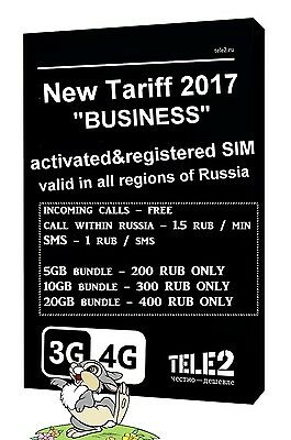 NEW! Russian SIM card for Internet and calls in Russia -activated and ready