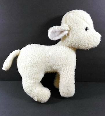 "16"" Eden Cream Fleece LAMB Vintage Plush Stuffed Animal Toy B274"