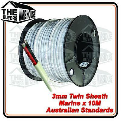 10M x 3mm MARINE GRADE TINNED 2 CORE TWIN SHEATH  BOAT ELECTRICAL CABLE TYCAB