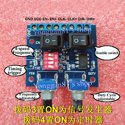 NE555 Pulse Generator Frequency/Duty Cycle Adjust Stepper Motor Driver tester U
