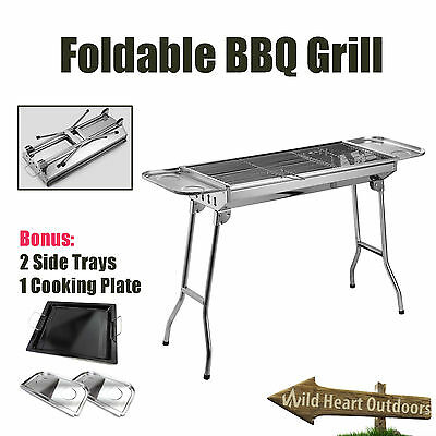 Foldable BBQ Grill Stainless Steel Barbecue Stove Camping Picnic