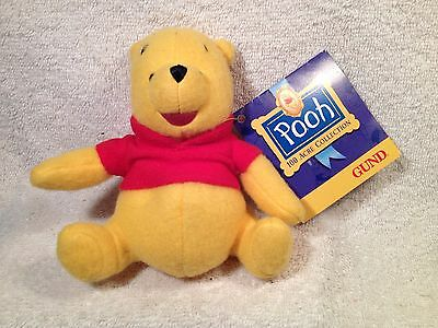 "Winnie The Pooh Disney Gund 100 Acre Collection 5"" Plush New Retired"
