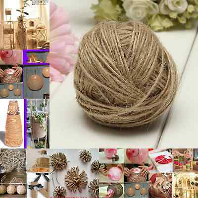 60m Mts Thick 1-Ply Rustic Natural Jute Hessian Burlap Twine String Ribbon Cord