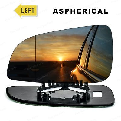 Left Near Side Wide Angle Wing mirror glass for Vauxhall Astra H 2004-2008