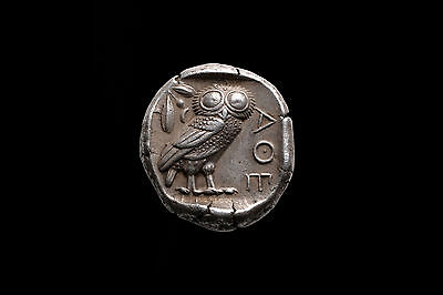 Superb Ancient Greek Silver Owl Tetradrachm Coin from Athens - 454 BC