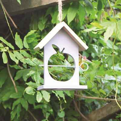 Hanging Wooden Bird Feeder Apple Fruit Holder Garden Feeding Hut Station Bfapple