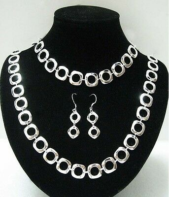 Wholesale For Valentines Gift Jewelry 925Silver Bracelet Necklace Earrings Set