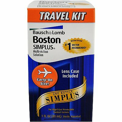 6 Pack Bausch - Lomb Boston Simplus Multi-Action Solution Travel Kit 1 Each