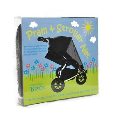 Universal Pram & Stroller Sun Protect Insect Mosquito Net - Black