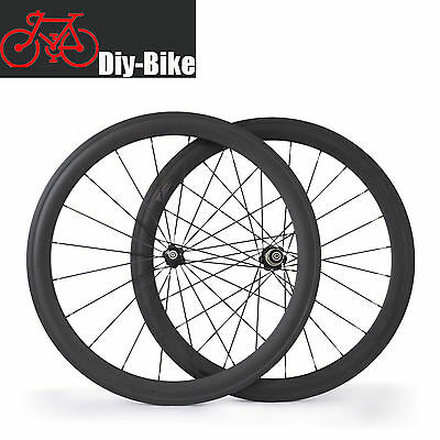 700c 50mm depth Carbon Clincher Road Bike Bicycle Wheels Carbon cycling Wheelset