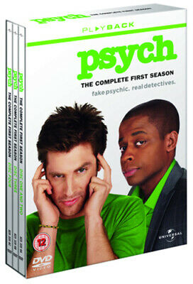 Psych: The Complete First Season DVD (2008) James Roday cert 12 4 discs