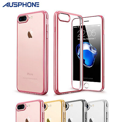 iPhone XS 8 7 6S Plus Gel Cover for Apple Crystal Clear Ultra Slim silicone Case