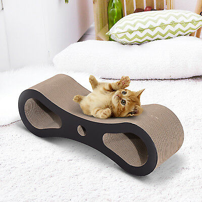 PawHut Cat Scratcher Tree Bed Board Kitten Sleep Pet Scratching Claw Toy Play