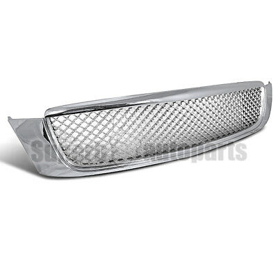 2000-2005 Cadillac DeVille Euro Mesh Style ABS Chrome Front Hood Grille