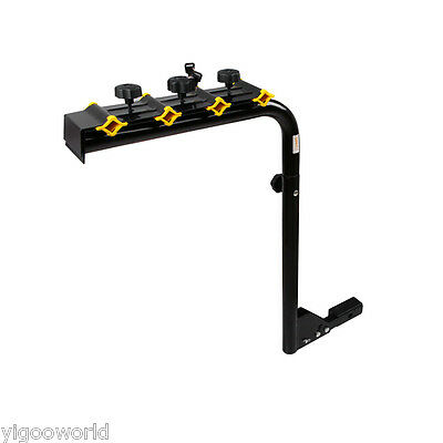"""4 Bicycle Bike Rack Hitch Mount Car Carrier W/ Lock For 2"""" Receivers Steel"""