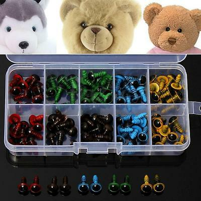 100PCS 8mm Plastic Safety Eyes For Making Soft Toys Bear Animal Mask Doll Craft