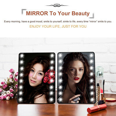 20 LED Make Up Specchietti Trucco Specchio Cosmetic Mirror Luce Touch Screen IT