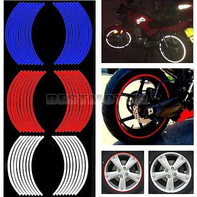 "17"" Roue Rim Rayure Bande Moto Scooter Voiture Pneu Autocollant Decal Sticker"
