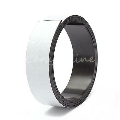 Self Adhesive Flexible Soft Rubber Magnetic Tape Magnet DIY Craft Strip 25mm 1m