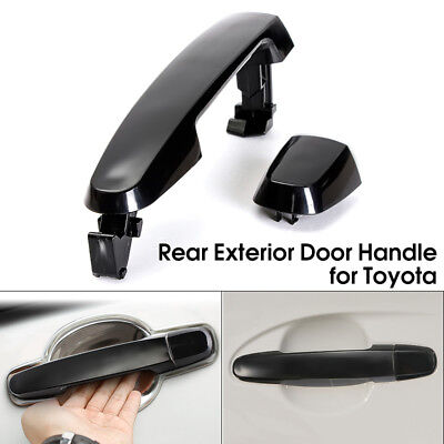 Rear Left / Right Smooth Black Outside Exterior Door Handle For Toyota Pontiac