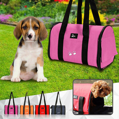Portable Pet Dog Cat Puppy Travel Carrier Case Cage Tent Kennel Bag Crate Size M