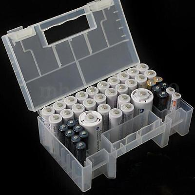 Clear Plastic Healthy Case Storage Box Holder Container For AA AAA C Battery