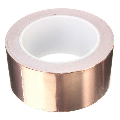 Pro Copper Foil Tape EMI Shielding for Fender Guitar Slug Snail Barrier 50mmx20m