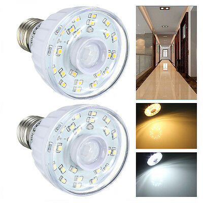 E27 3528 Pure/Warm White 23 LED Light Lamp Bulb PIR Auto Motion Sensor Detector