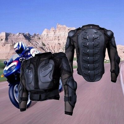 Motorcycle Black Body Armor Jacket Guard Chest Protector Adult Spine Dirt Bike