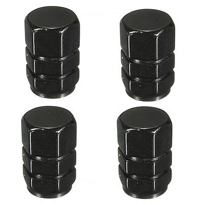 4x Wheel Tire Tyre Dust Valve Stem Cap Cover Black For Car Truck Motorcycle Bike