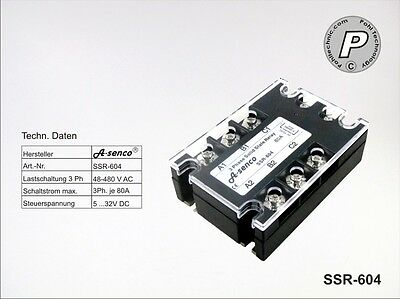 SSR-602 Halbleiter Solid State Relais 400VAC max. 80A AC-DC