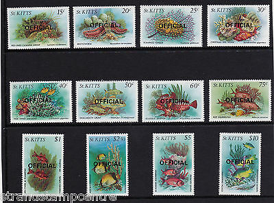 St. Kitts - 1984 Marine Life - Overprinted OFFICIAL - U/M - SG O29-40