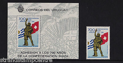 Uruguay - 1991 Swiss Federation - U/M - SG 2038 + MS2039
