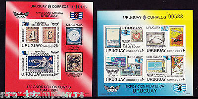 Uruguay - 1993 Stamp Exhibition - U/M - SG MS2133 (2) IMPERF