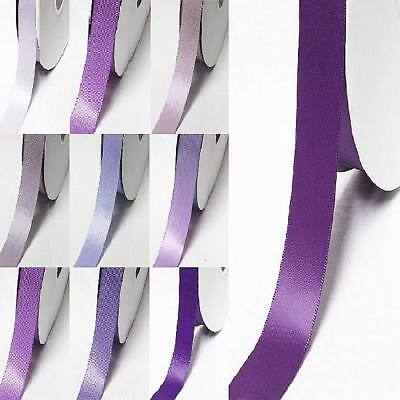 "Wholesale 100 Yards Double Faced Satin Ribbon 3/8"" /9mm  Lilac purple s color"