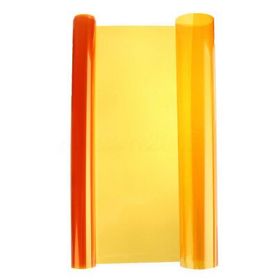 "12 x 48"" Amber Orange Vinyl Sheet Overlay Film Tint Side Marker Corner Light"