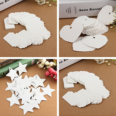 100pcs Fashion Blank Kraft Paper Gift Tags Wedding Scallop Price Label Luggage