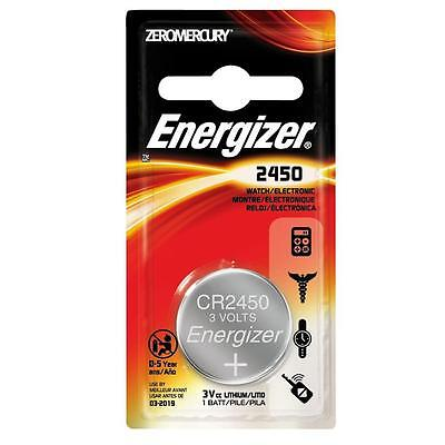 4 x Energizer CR2450 3V Lithium Coin Cell Battery 2450