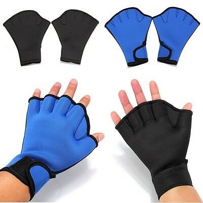 Hot!Surfing Swimming Diving Frog Webbed Fingerless Gloves Swim Aid Paddle Glove