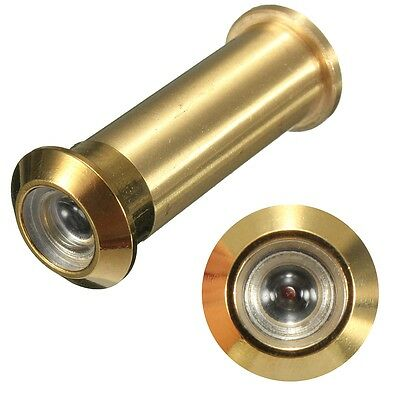 Home Security 160 Degree Wide Angle Door Viewer Peep Brass Sight Hole Glass