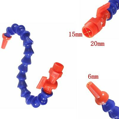 """Flexible 3/4"""" 20mm*400mm Water Oil Coolant Cooling Pipe Hose Lathe Switch+Nozzle"""