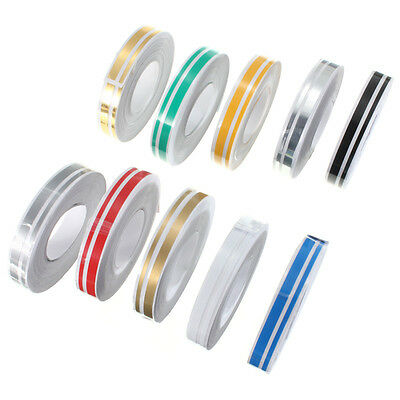 12mm x 9.8m Pin Striping Stripe Vinyl Tape Decals Stickers For Cars Motorcycle