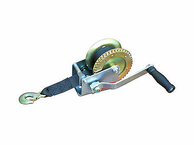 MARINE TRAILER CRANK HAND WINCH FOR BOATS 600 lbs WITH STRAP MANUAL -FIVE OCEANS