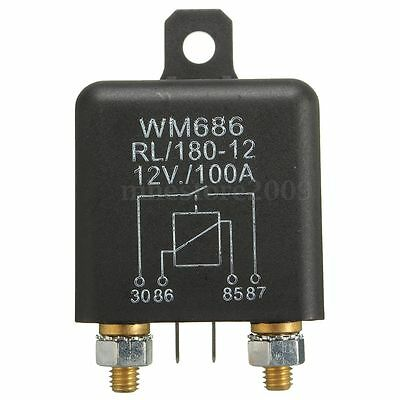 12V 100Amp 4-Pin Heavy Duty ON/OFF Switch Split Charge Relay For Auto Boat Van