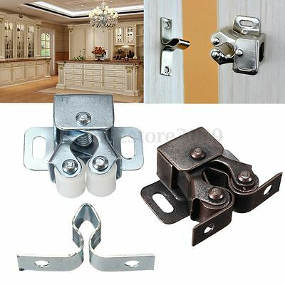 1/2/5 Pcs Double Ball Roller Catches Cupboard Cabinet Door Latch Hardware Copper